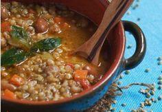 PRIMI Zuppa di grano saraceno al profumo di basilico