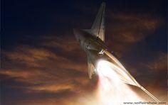 Pan Am Space plane take off