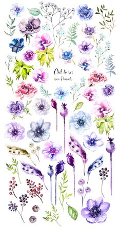 best Ideas for flowers drawing watercolor painting Watercolor Flowers, Watercolor Paintings, Simple Watercolor, Watercolour, Caran D'ache, Drawing Hands, Plant Drawing, Flower Tattoos, Flower Art