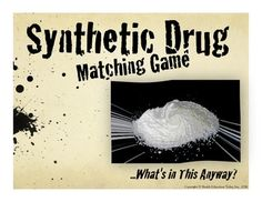 """Synthetic Drugs Guessing Game and Follow-Up Activity. Use this powerful, engaging lesson to show your students the dangers of synthetic drugs. Students guess 8 synthetic drugs from a visual 63-Slide PowerPoint. When correcting their guesses, they write down words, emotions, and facts they hear to use in the follow-up """"Word Activity"""" project. Optional video links, research project, articles and more included!"""