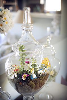 Another use for those apothecary Jars - Alice in Wonderland Birthday
