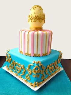 Learn how to decorate this cake following step-by-step instructions in the Wilton Blog.