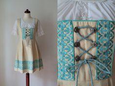 Vintage Dirndl Dress 1970's German von PaperdollVintageShop, €79.90