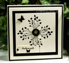 Stampin Up: Pocket Silhouettes. Oooh! What a brilliant and unusual way to use this stamp set! Could also use Beautiful Wings die.
