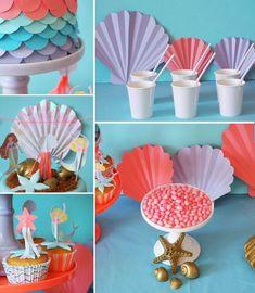 vaisselle anniversaire sirène