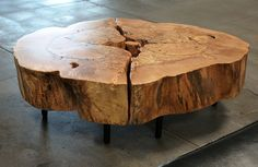 Urban Hardwoods Furniture - Los Angeles, maple burl coffee table