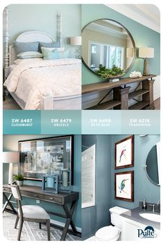 Out with the old, in with the soft, blue hues! Create a connective thread throughout your home by painting your bedroom, kitchen and more in this chic, complementary color palette. Click for more decor tips and trends. | Pulte Homes