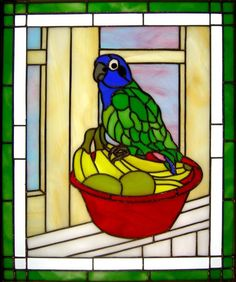 stained glass animals | Parrot | Animals Birds - Stained Glass | Pinterest