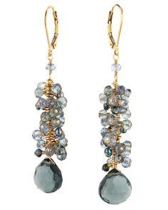 Dana Kellin Stormy Mix Dangle Cluster Earrings
