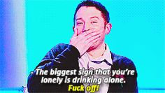 Jon Richardson's reaction to being told what the biggest sign you're lonely is