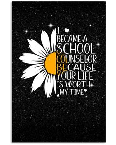 i became a school counselor because your life is worth my time School Counselor Office, School Guidance Counselor, High School Counseling, Elementary School Counselor, Counseling Office Decor, Social Work Offices, School Social Work, School School, School Stuff