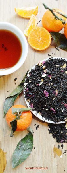 Hiszpańska Mandarynka - herbata czarna z skórką mandarynki, pomarańczy i płatkami róż. BLACK TEA WITH MANDARIN