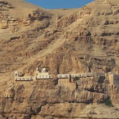 Israël-Aan de weg van #Jerusalem naar de oudste pertinent bewoonde stad en laagst gelegen stad Jericho ligt het klooster van St. George of Koziba