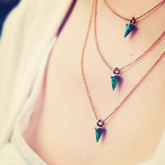 @Lionette designs by Noa Sade Avish Necklace - Simulated Opals #perfection