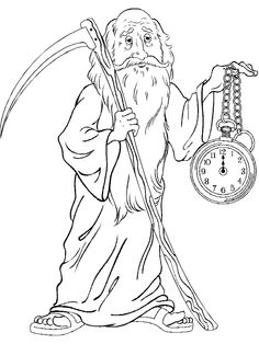 father time new year coloring pages coloring for kids coloring pages for kids