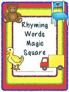 These three Magic Squares have students practice matching rhyming words. Each of the three puzzles has four versions  matching pictures and words, one with additional pictures or words around the outside and one without. (If youre not sure what the pictures represent, go to the next puzzle with the words.
