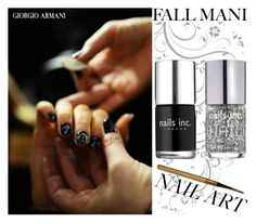 """""""Pretty Fall Mani"""" by cherieaustin ❤ liked on Polyvore featuring beauty, Giorgio Armani, Nails Inc. and fallmani"""