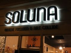 Illuminated Signs by WESCO Signs - Soluna #illuminatedsigns