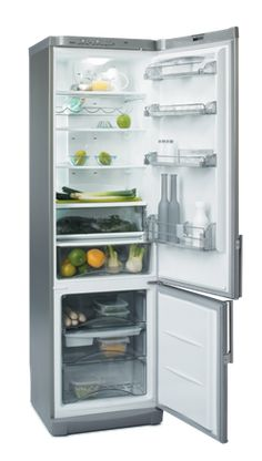 Counter-Depth Bottom Freezer Refrigerator with 4 Anti-Spill Glass Shelves, Fast Cooling, Super-Freezing, Bio Filter and Door Alarm Tiny House Appliances, Small Appliances, Kitchen Appliances, Small Kitchenette, Basement Kitchenette, Bottom Freezer Refrigerator, Tiny Fridge, Kropf, Door Alarms