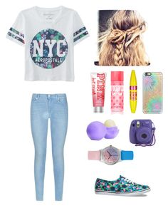 """""""untitled #8"""" by mariah-rose1 ❤ liked on Polyvore featuring Aéropostale, 7 For All Mankind, Vans, Victoria's Secret, Eos, Maybelline, Casetify and May28th"""