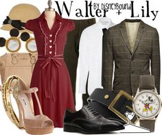 this is adorable, disneybound inspired by Walt Disney and his wife Lily <3