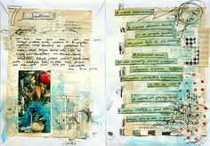Art Journal - by mumkaa on flickr - she blends photo's with art journaling