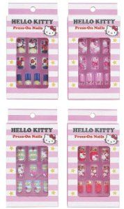 Hello Kitty 10 Decorative Press On Nails for Adults (Random Style/Color) by Hello Kitty. $15.95. Package Measurement : H 4-3/4?x L 3/4?x W 3?. 10 Nails with Embelishments. Hello Kitty 10 Decorative Press On Nails for Adults (Random Style/Color). Style and Color May Vary. Hello Kitty 10 Decorative Press On Nails for Adults (Random Style/Color)