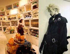 Final Fantasy theme restaurant in Shinjuku, Japan! I posted photos Square Enix Artnia cafe -- Tokyo theme restaurant at http://www.lacarmina.com/blog/2013/04/robot-restaurant-shinjuku-square-enix-cafe-final-fantasy-theme-bars/    final fantasy cloud, square enix shop