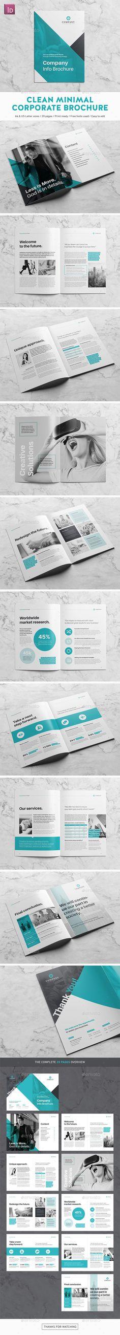 Clean Minimal Corporate Brochure