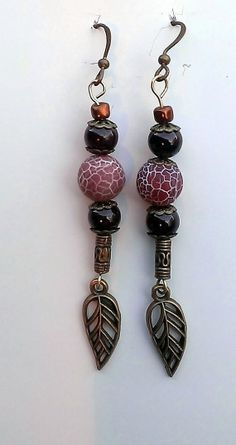 Free Shipping Jasper and Agate Earrings by GrammyTammyCreations, $9.00