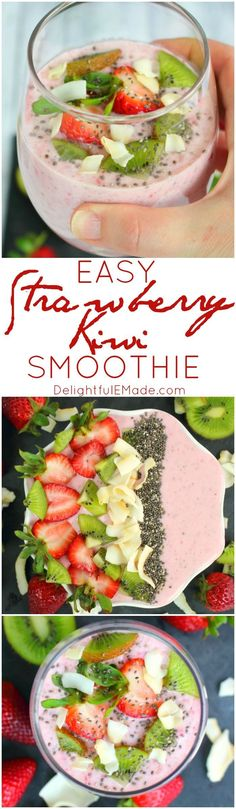 Meet your new favorite strawberry smoothie recipe! With just five simple ingredients, and just minutes to blend, this smoothie is perfect for a quick, healthy breakfast or snack. Loaded with nutrients, and light on calories, it makes for a fantastic post