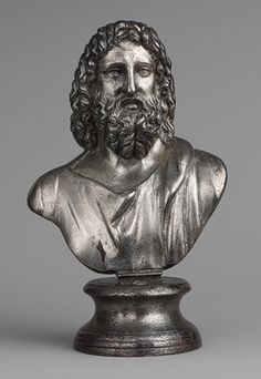 Bust of Serapis, 2nd century A.D.; Mid-Imperial  Roman; said to be from Egypt  Silver