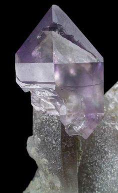 Quartz (Smoky-Amethyst Scepter) on Smoky Quartz matrix / Mineral Friends