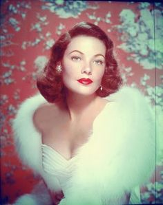 Movie star Gene Tierney