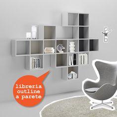 #Libreria Outline sospesa. Catalogo complementi. www.moretticompact.com