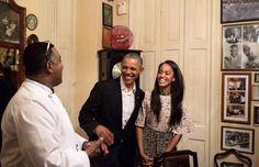 Malia Obama acts as the president's Spanish translator in Cuba