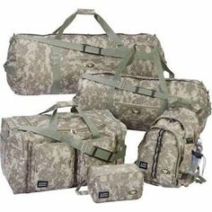 Military Digital Camo 5 Piece Luggage Travel Camping Vacation Bags Backpack | eBay