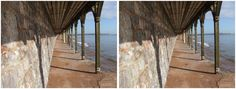 Dawlish 3D view columns by the sea 2015