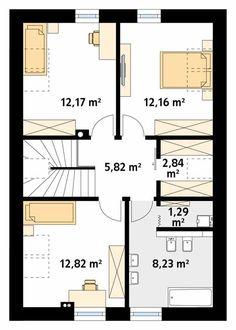 Antara projekt domu - Jesteśmy AUTOREM - DOMY w Stylu Antara, Floor Plans, Architecture, House, Home Architecture, Arquitetura, Home, Architecture Design, Homes