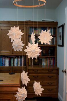 Origami snowflakes. . .