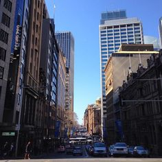Looking down Bridge Street from the junction with George Street #Sydney. #NSW #Australia #IgersSydney #architecture #skyscraper #urban #city #travel #tourism #tourist #holiday #adventure #explore