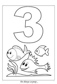 Bir Dünya Zeynep Sayı Boyama Sayfaları 2 Number Coloring