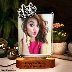 Personalized Birthday Gift - Love LED Photo Frame. Love personalized birthday gift which is a led photo frame. You can make this online with anyone's photo and send this as a gift on their birthday.