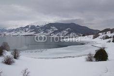 Campotosto lake in winter, Abruzzo. #Campotosto #Winter #Lake #Ice #Snow #Landscape #Nature #Apennines #Italy #Travel #Tourism #Europe #Nature #Snowy #Snowfall