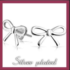 🎉HP 6/1🎉Silver plated bow earrings 🎉Host Pick 6/1 Back to Basics Party!🎉Silver plated bow earrings. Brand new. In package. So dainty and cute!  👰🏼💍All sales are going to my wedding, so please, no low balling👰🏼💍 Jewelry Earrings