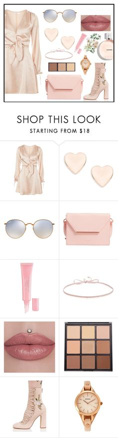 """""""Bloom"""" by bitty-junkkitty ❤ liked on Polyvore featuring Oh My Love, Ted Baker, Ray-Ban, Christian Dior, Finn, Morphe, Chinese Laundry and FOSSIL"""