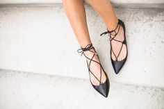 Lace up flats! Love