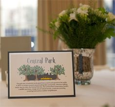 New York Themed Table Names
