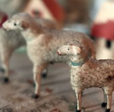 Putz sheep.  Repinned by www.mygrowingtraditions.com