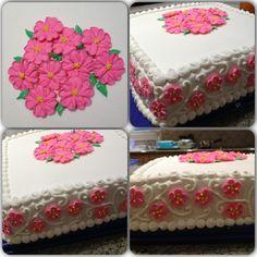 Royal icing flower cake